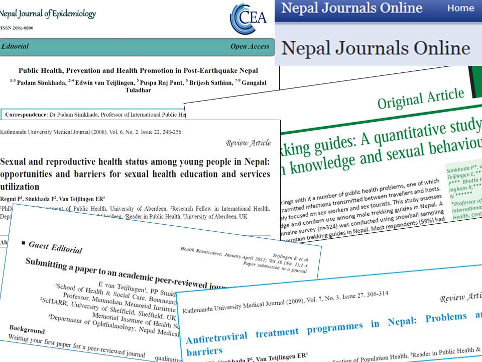 A selection of the articles published by Edwin and Padam in Nepalese journals